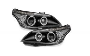 Set 2 faruri DAYLINE compatibil cu BMW E60 LED indicator 04-07, negru