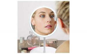 Oglinda cosmetica cu Led, senzor tactil, Martie, luna femeii, Martisoare & Flori