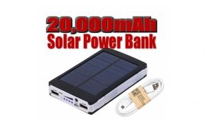 Baterie externa solara - 20000 mAh, Cadouri Craciun, Persoana iubita