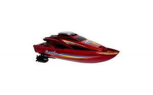 Barca de viteza cu elice controlata din telecomanda, culoare rosie, Cali boat, 34 cm