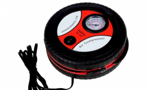 Compresor auto cu 3 capete pentru umflare anvelopa, roti bicicleta sau mingii