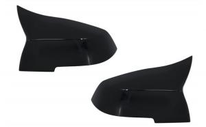 Capace oglinzi compatibil cu BMW Seria 1/2/3/4 Negru Lucios