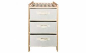 Dulap pentru baie, hol, dormitor, living sau depozitare din lemn maro, ATS, cu 3 sertare