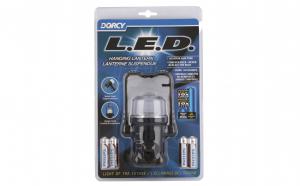 Lanterna cort LED, 4xAA 1.5V, cu suport pivotant, maner si carlig, 130 ore, Negru