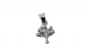 Pandantiv Argint 925 Pom cu Pietre + Snur Martisor
