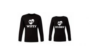 Set de bluze negre My Hubby/Wifey