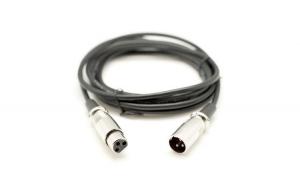 Cablu XLR Tata - XLR Mama, Lungime 3m, Culoare Negru - ElectroAZ