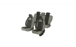 Huse scaune auto RENAULT MEGANE I 2000-2008  dAL Racing  Gri,Piele ecologica + Textil