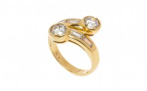 Inel din aur galben 18K cu diamante naturale, 1.89 ct., circumferinta - 53 mm, IAU253