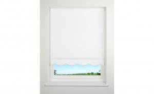 Rulou din material textil, 150 x 160 cm, alb, Scallop Daylight, Vivo, SCALLOP150