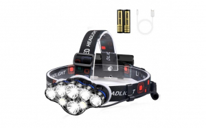 Lanterna de cap cu 8 LED-uri