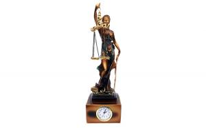 Ceas Zeita justitiei cu ceas, 32 cm,