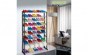 Stativ pentru pantofi 50 Shoes Rack. In sfarsit, pantofii dumneavoastra vor fi totdeauna organizati si la indemana atunci cand aveti nevoie de ei, la doar 129 lei in loc de 280 lei. Video prezentare