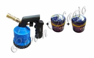 Set de 3 piese (lampa portabila cu gaz  + 2 doze tip butelie) la numai 75 RON in loc de 159 RON