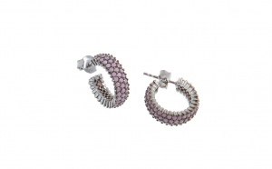Cercei din argint cu opal roz
