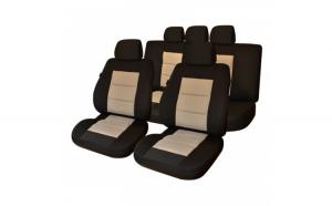 Huse Scaune Auto SEAT IBIZA ( 2000-2010)  Premium Lux Negru/Bej