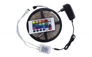 Set 2 benzi RGB LED, cu telecomanda si joc de lumini multicolore