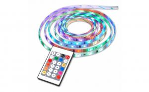 Banda LED cu telecomanda si 300 leduri, lungime 5 m