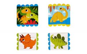 Set puzzle-uri din betisoare lemn -