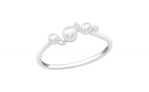 Inel argint,  Perla cu cristale din Zirconiu White, Marimea 57, A4S39436