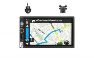 Pachet Mp5 Player cu camera marsarier si camera fata incastrabila Dome, Bluetooth, 4 x 60 W, Format 2 din, 7 Inch, Mirrorlink