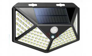 Set 5 lampi cu incarcare solara, senzor de miscare si amurg/lumina, stare de veghe, 3 moduri de iluminare, 100 x LED, Kathode