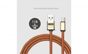 Cablu date si incarcare piele eco (micoUSB)