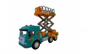 Jucarie camion cu sunete si lumini, cu diferite functii, varsta 3 ani+, multicolor