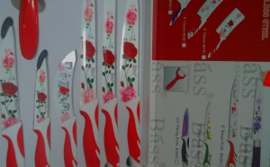 Set Cutite Bucatarie Floral - 7 piese Bass Stainless Steel, la 84 RON in loc de 150 RON