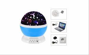 Lampa de veghe, Star Master, cu proiector stele rotativ 360