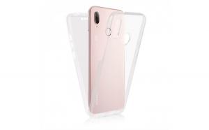 Husa silicon 360 fata+spate, Huawei P20, Transparent