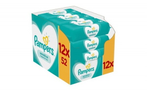 Servetele umede Pampers Sensitive,