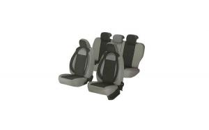 Huse scaune auto SKODA OCTAVIA I 2000-2010  dAL Racing  Gri,Piele ecologica + Textil