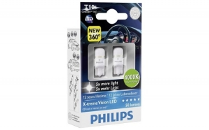 Becuri LED Philips Xtreme Vision W5W