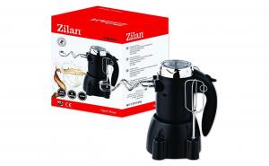 Mixer de mana cu suport Zilan ZLN-8426. Putere 300 W. Functie turbo. Suport pentru mixer si accesorii. 6 viteze
