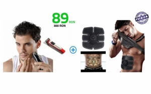 Set aparat EMS Smart Fitness + Aparat de tuns Nova