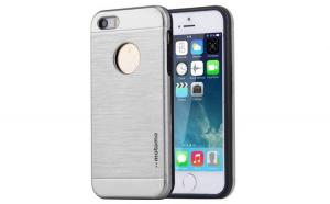 Husa Apple iPhone 5/5S/5SE Motomo V5 Argintiu