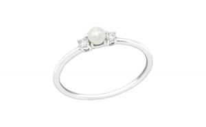 Inel argint,  Piatra dubla cu cristale din Zirconiu White, Marimea 55, A4S39253