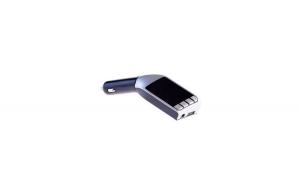 Modulator FM Auto Car V3 cu Bluetooth si Slot Card SD, Argintiu