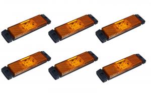 Set 6 lampi gabarit 130x32 cu 4 LED-uri