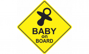 Baby on board Suzeta Sticker Autocolant