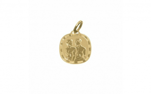 Pandantiv zodia Gemeni din aur galben