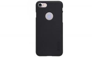 Husa Apple iPhone 8 Nillkin Frosted Shield Negru + Folie de protectie