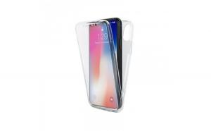 Husa silicon 360 fata+spate, iPhone XR, Transparent