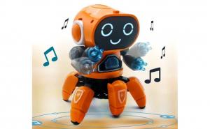 Robotul-caracatita interactiv, Merge si danseaza, Lumini LED, Sunete, Melodii