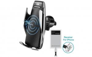 Suport auto pentru incarcare telefon mobil cu senzor rapid, rotire 360 grade, , 10W