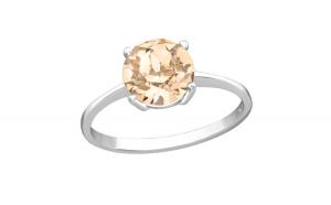 Inel argint,  Solitaire cu cristale Zirconiu, Marimea 55, A4S38272