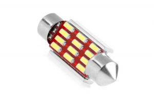 Set 2 becuri cu LED c5w, festoon, 12 smd, Canbus