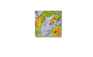 Puzzle lemn magnetic One Two Fun