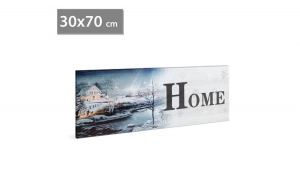 FAMILY POUND - Tablou cu LED - Home peisaj de iarna, 2 x AA, 30 x 70 cm GLZ-58019A
